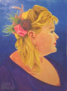 """Lady with a Fascinator,"" (c) Abigail Parker 2012."